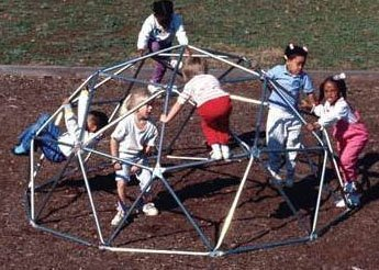Sports Play Equipment 301-134B Geo Dome Jr. - with Brackets - Permanent (Permanent Bracket)