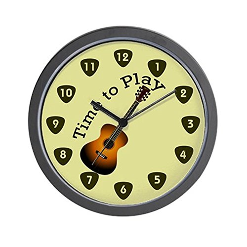 CafePress – Time To Play Guitar – Unique Decorative 10″ Wall Clock Review