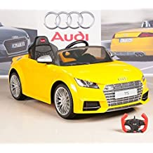 Audi TTs 12V Kids Ride On Battery Powered Wheels Car + RC Remote - Yellow