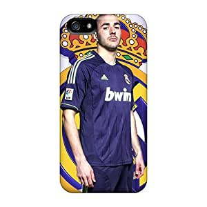Cynthaskey Premium Protective Hard Case For Iphone 5/5s- Nice Design - The Football Player Real Madrid Karim Benzema Under The Sky