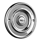 Byron Wired Bell Push Flush Mounted - Chrom