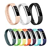 Vancle Fitbit Alta Bands, Newest Adjustable Replacement Bands for Fitbit Alta/ Fitbit Alta band/ Fitbit Alta Bands (with Metal Clasp,No Tracker)(White,Small)