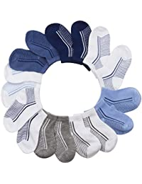 Infant Boys All Weather No Show Socks - 10 Pack - 6-12...