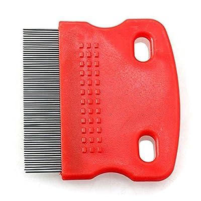 FACILLA Pet Dog Cat Hair Flea Shedding Comb Grooming Pin Brush Slicker Trimmer Tool Red