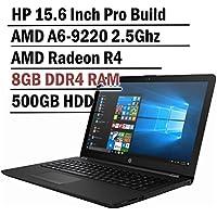 Hp 15.6 Inch HD Thin and Light Laptop (7th Gen AMD A6-9220 2.5Ghz APU, 8GB DDR4 Memory, 500GB HDD, Wireless AC, HDMI, Bluetooth, WIndows 10)