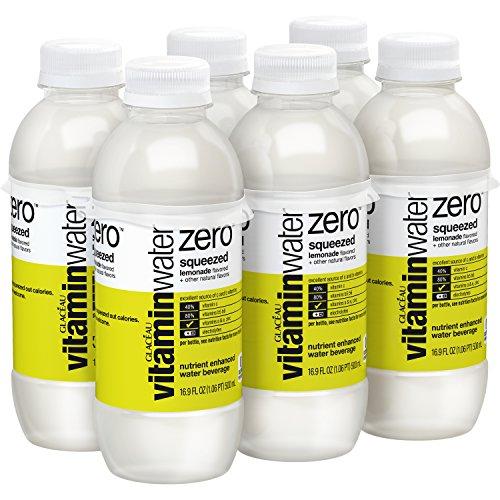 vitaminwater zero Squeezed, 16.9 fl oz, 6 Pack