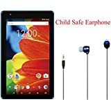 Newest High Performance RCA Voyager 7 16GB Touchscreen Tablet Quad-Core 1G RAM 16GB Hard Drive Webcam Wifi Bluetooth Android 6.0 Plus Child Safe Earphone (Blue)