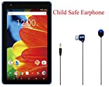 Newest High Performance RCA Voyager 7'' 16GB Touchscreen Tablet Quad-Core 1G RAM 16GB Hard Drive Webcam Wifi Bluetooth Android 6.0 Plus Child Safe Earphone (Blue)