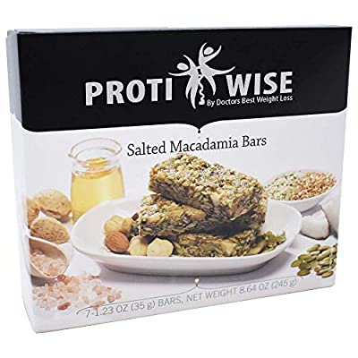 ProtiWise - High Protein Diet | Salted Macadamia | Low Calorie, Low Fat, Low Sugar (5/Box)