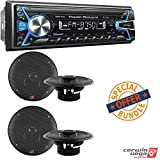 Power Acoustik PL-51B 1-DIN Digital Audio Head Unit With 32GB USB/SD/AUX/Bluetooth 2 PAIRS of XED Series 6.5 Inch 2-Way Coaxial Car Speakers
