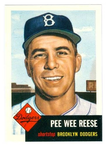 Pee Wee Reese baseball card 1953 Topps Archives #76 (Brooklyn Dodgers) 67