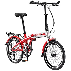"Schwinn Adapt 3 9 Speed Folding Bike Gloss Red/Silver 20"" Wheel, one size frame"