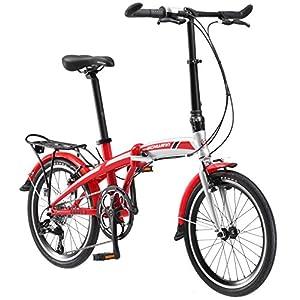 """Schwinn Adapt 3 9 Speed Folding Bike Gloss Red/Silver 20"""" Wheel, one size frame"""