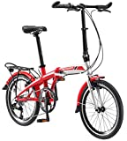 Schwinn Adapt 3 9 Speed Folding Bike Gloss Red/Silver 20'' Wheel, one size frame
