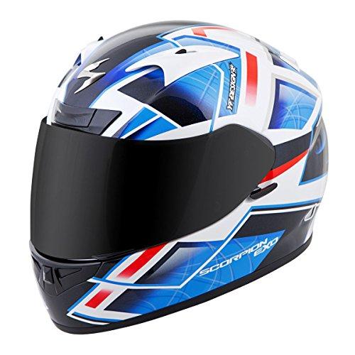Scorpion EXO-R710 Unisex-Adult Full Face Motorcycle Helmet (Blue, Medium) (Fuji)