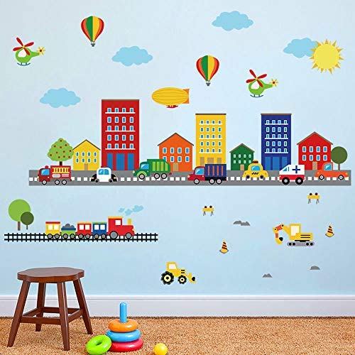 decalmile Construction Stickers Transportation Childrens product image