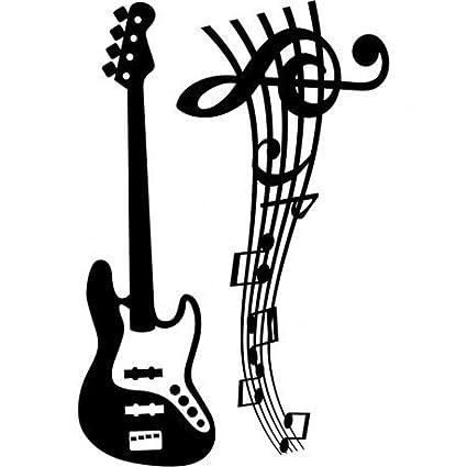 pegatinas de pared mariposas pegatinas de pared mariposas guitarra electrica y notas musicales.