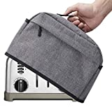 VOSDANS 4 Slice Toaster Cover with Zipper & Open