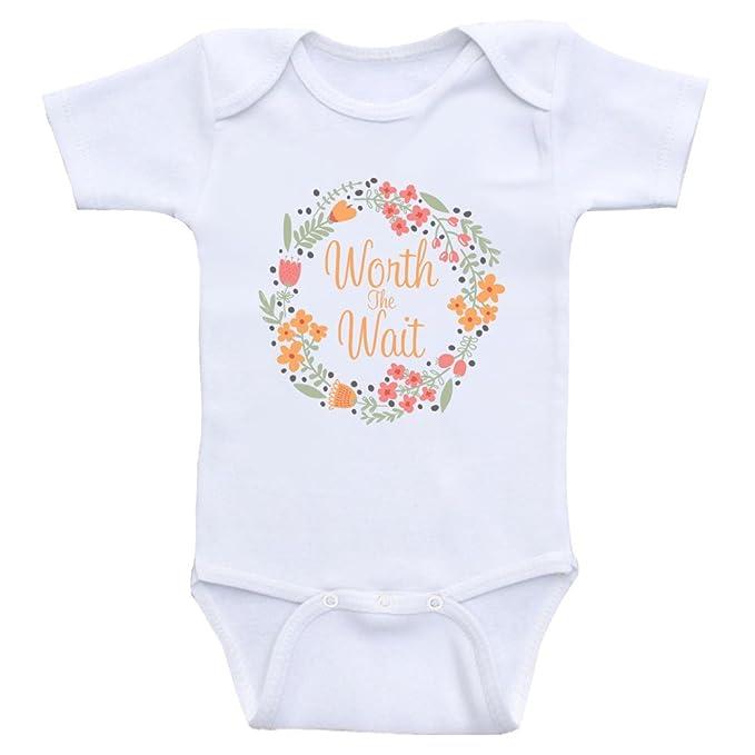 eda968261 Amazon.com  Newborn Baby Clothes Worth The Wait Cute Onesies for ...