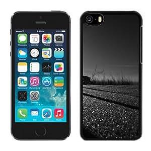 Black And White Sunset Hard Plastic iPhone 5C Protective Phone Case