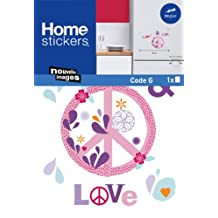 Nouvelles Images HOWI1928 Peace and Love Window or Appliance Stickers, Mini