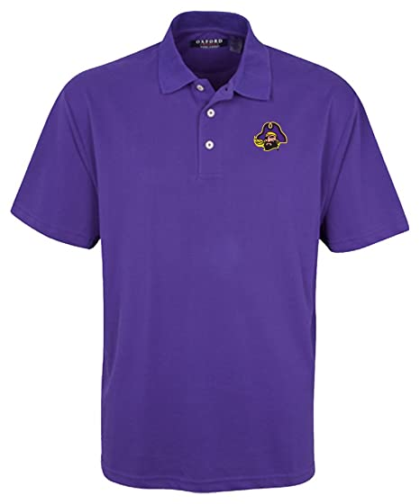 Oxford Mens 3 Button Polo with Hemmed Sleeves