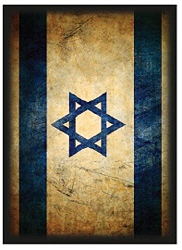 Max-Pro 50 ISRAELI FLAG Shuffle-Tech Sleeves Iconic Flags Collection (fits Magic / MTG, Pokemon Cards) ISRAEL