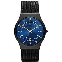 Skagen Men's Sundby Quartz Titanium and Stainless Steel Mesh Casual Watch, Color: Black (Model: T233XLTMN)