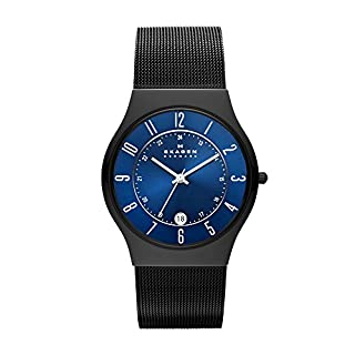 Skagen Men's T233XLTMN Royal Blue Dial And Black Signature Skagen Band Watch (B0009SY5RW) | Amazon Products