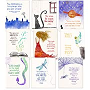 ECHO-LIT Children`s Literature Inspirational Quote Nine Poster Set for Home, Classroom or Library