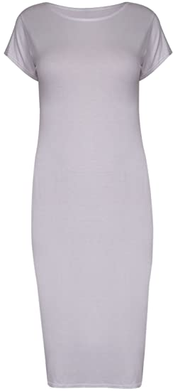 PurpleHanger Women\'s Cap Sleeve Scoop Neck Midi Dress Plus Size at ...