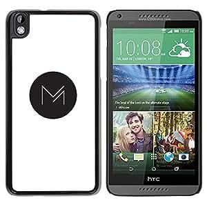 YOYOYO Smartphone Protección Defender Duro Negro Funda Imagen Diseño Carcasa Tapa Case Skin Cover Para HTC DESIRE 816 - círculo negro M