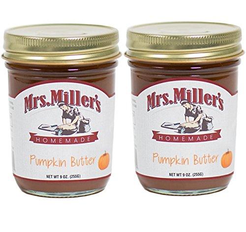Amish Pumpkin Pie - Mrs. Miller's Amish Made Pumpkin Butter 9 Ounces - 2 Pack