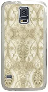 Elisabetta-Damask Samsung Galaxy S5 Case with Transparent Skin I9600 Hard Shell Cover by runtopwell