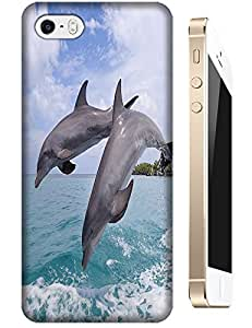 Couple Dolphins Jumps together cute lovely cell phone cases for Apple Accessories iPhone 4/4S