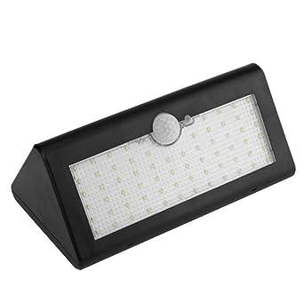 Papaxiong 38 LEDs luz solar 38 LEDs triangular solar de pared luz inalámbrica sensor de movimiento