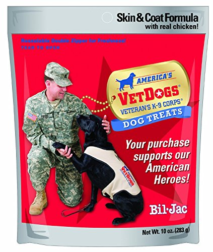 (3 Pack) Bil Jac America's Vetdogs Skin and Coat Dog Treats, 10 Ounces each