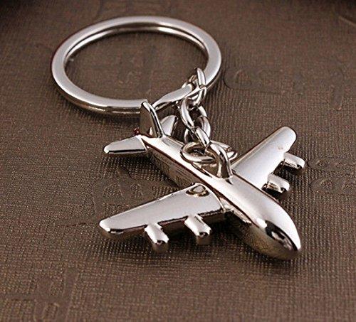 1Pcs Distinguished Popular Air Plane Keychain Creative Gift Keyring Keyfob Color Silver - Genesis Arm Guard