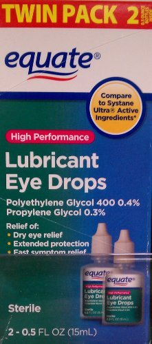 High Performance Lubricant Eye Drops Twinpack by Equate, ...