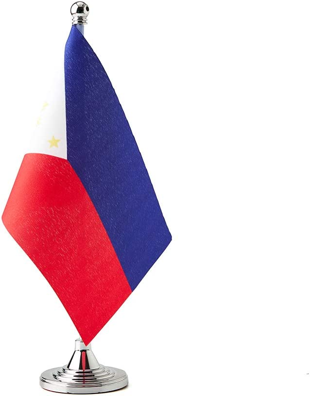 Mflagperft Philippines Flag Filipino Table Desk Small Mini Flags Decorations