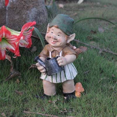 Estatuas para jardín Arte De La Resina Enano con Una Escoba Barriendo Jardín Esculturas para Los Ornamentos Yard: Amazon.es: Hogar