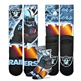 For Bare Feet Oakland Raiders Youth Size NFL City Star Crew Kids Socks (4-8 YRS) 1 Pair - Marshawn Lynch