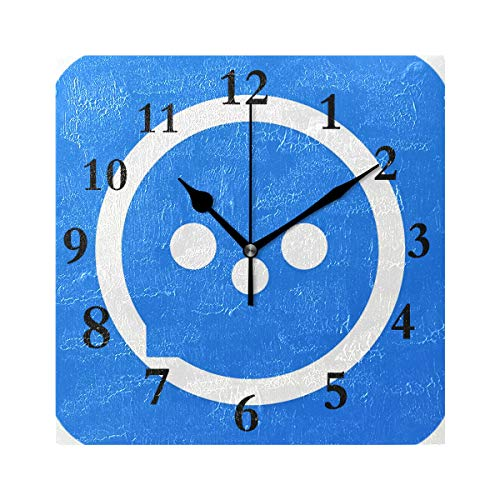 Square Wall Clock Custom Personalized Text Icon 7.8 Inch Cre