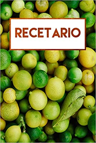 Recetario: Libro de recetas en blanco, libreta a rayas (Spanish Edition): Journals For Everyone: 9781726670852: Amazon.com: Books