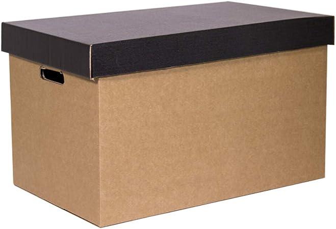 Kartox   Cajas de Cartón de Almacenamiento con Tapa Negra   2 unidades: Amazon.es: Oficina y papelería