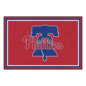 Image of Area Rugs FANMATS MLB Philadelphia Phillies Nylon Face 5X8 Plush Rug