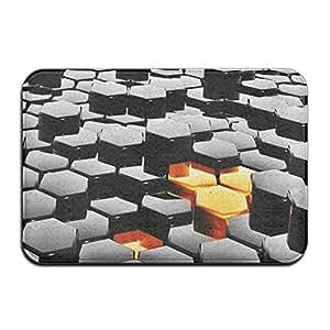 """Hexagonal rectangular Felpudo para Decoración diámetro 40x 60cm/15.7""""x 23.6"""" alfombrillas de terciopelo Coral para casa"""