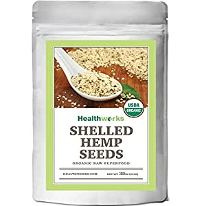 Healthworks Organic Shelled Hemp Seeds 2lb