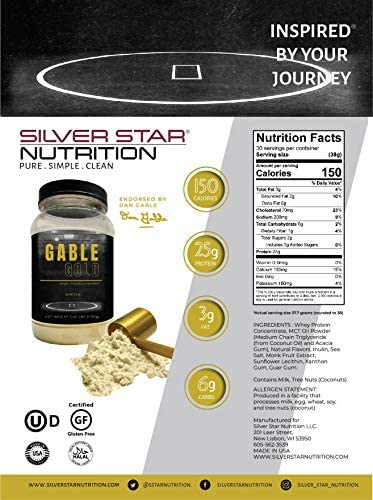 Gable Gold Vanilla Whey Protein Powder – Silver Star Nutrition