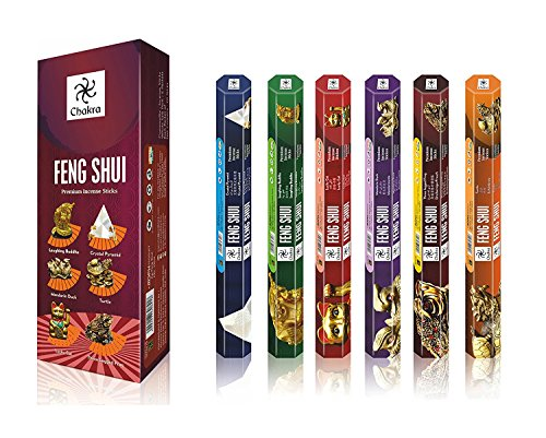 Chakra Fengshui Premium Natural Incense Sticks - 20 Sticks Per Box - Use It at Home or Workplace - Alluring Aroma Sticks (Fengshui)